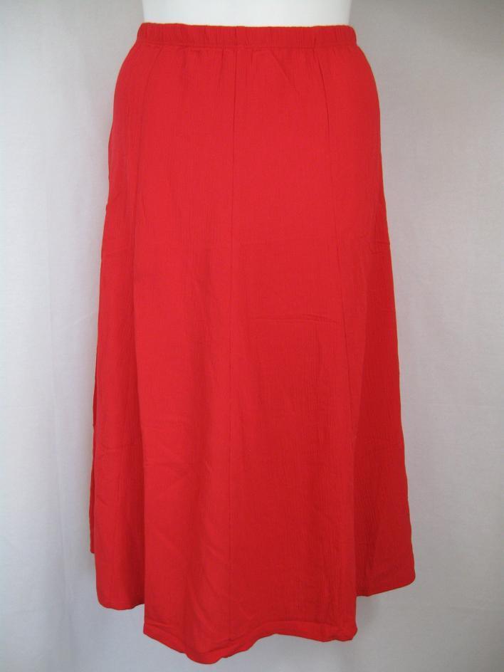 Susan-Graver-Crinkle-Gauze-Pull-on-Skirt