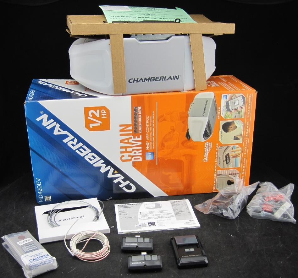 Chamberlain Hd420ev 1 2 Hp Chain Drive Gaarage Door Opener