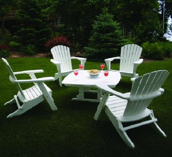 Perfect Choice Furniture Folding Adirondack Chair White Ofcf Wh