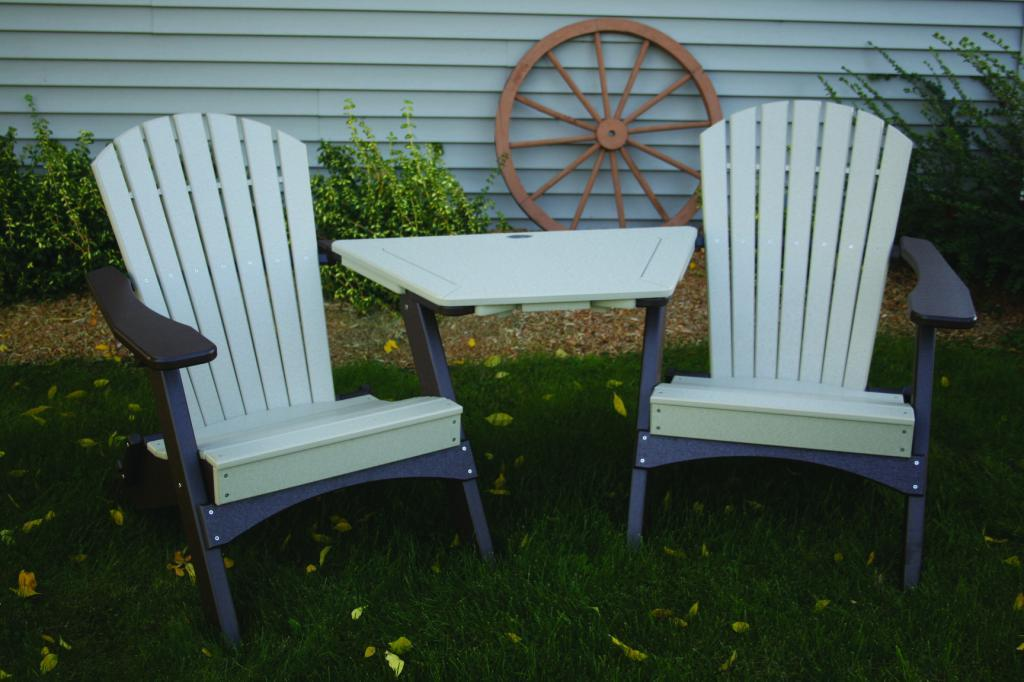 Perfect Choice Furniture Tete A Tete Adirondack Table White Oftat Wh Ebay