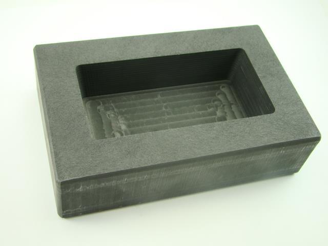 1000 Gram Ag Silver Bar High Density Graphite Ingot Mold