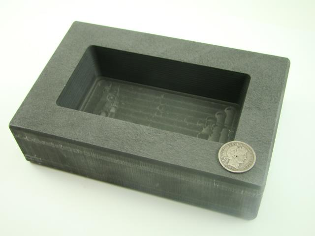 1000 Gram Ag Silver Bar High Density Graphite Ingot Mold