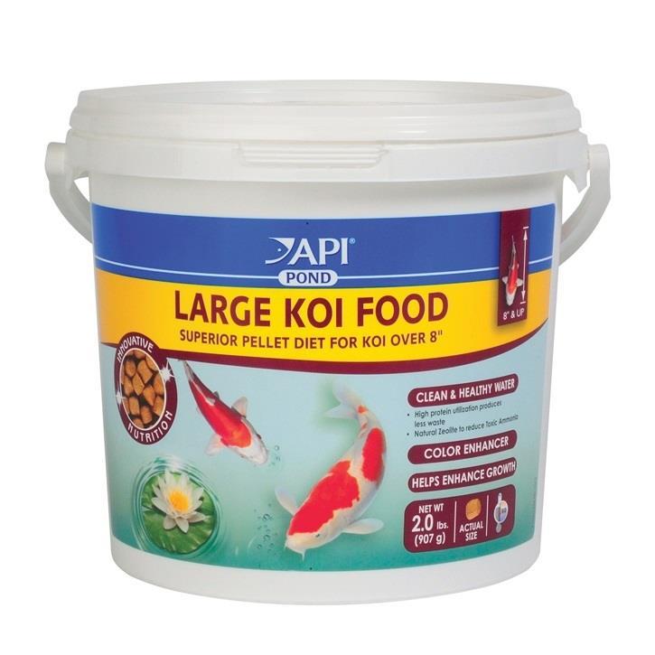 Mars api pond care koi food 7mm large pellets 2lbs 32oz for Koi pond food