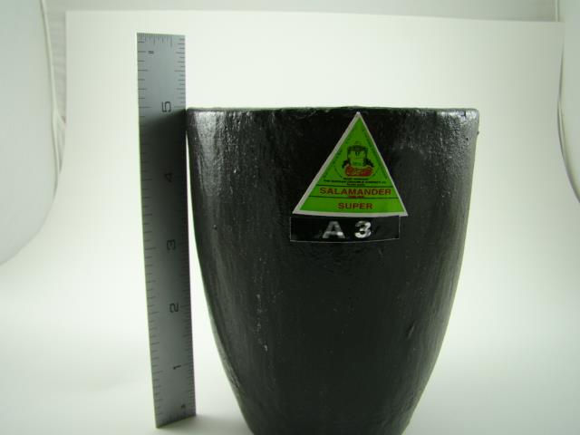 3 225 Oz Gold Graphite Crucible Silicon Carbide Furnace