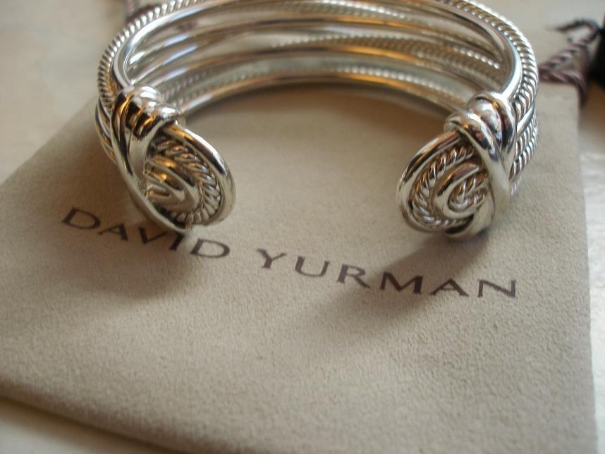 New David Yurman Crossover Wide Sterling Silver 29mm Cuff
