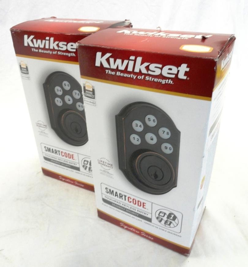 2x Kwikset 99100 024 Smartcode Touchpad Keyless Entry