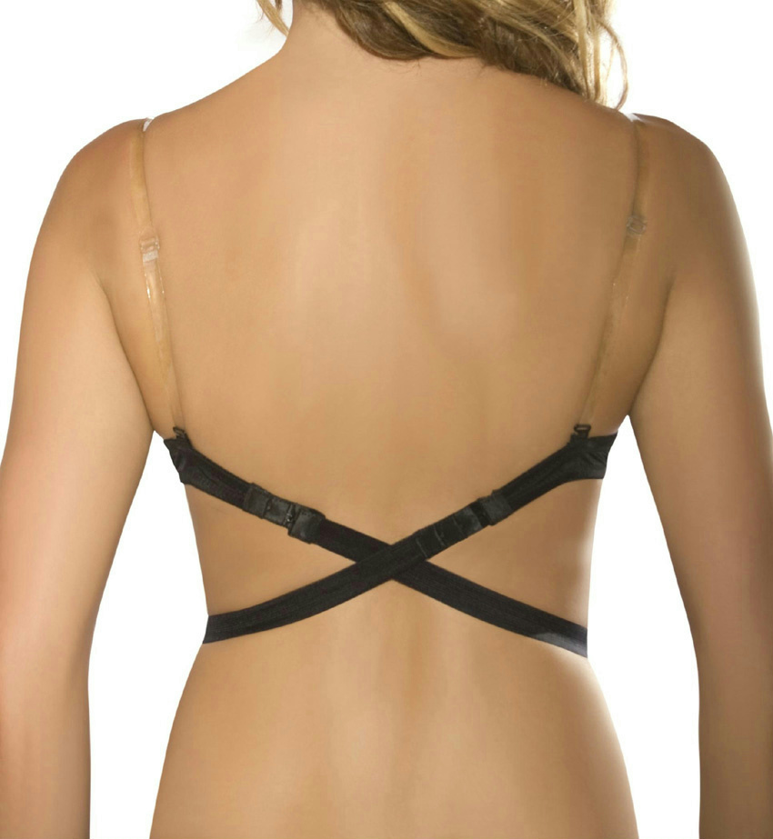 new lingerie solutions by fashion forms low back bra strap 1 clear strap ebay. Black Bedroom Furniture Sets. Home Design Ideas