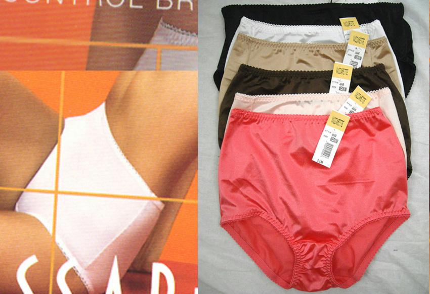 2 New Vassarette Control Brief Panties 40001 Solid Colors ...