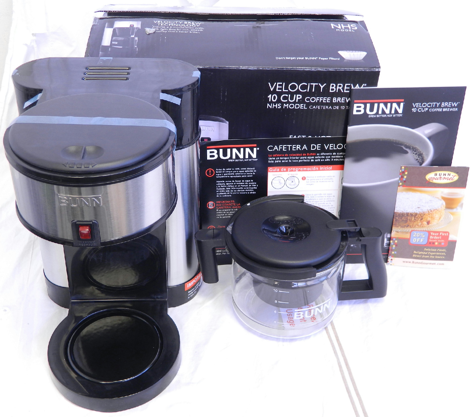 Bunn Coffee Maker Hot Plate Not Working : Bunn Velocity Brew 10 Cup Home Coffee Maker NHS-B Model eBay