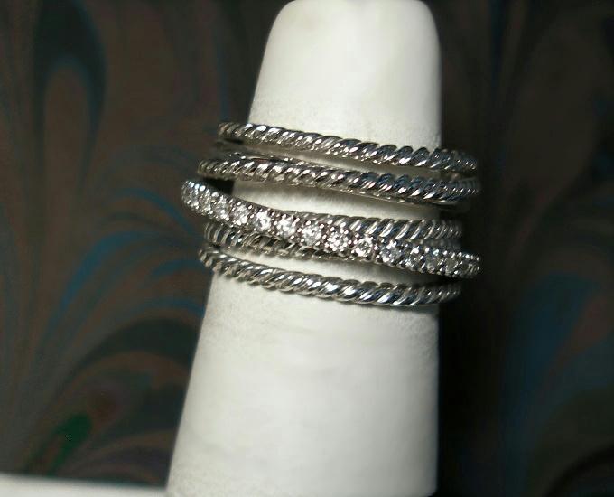 david yurman wide crossover ring sterling silver