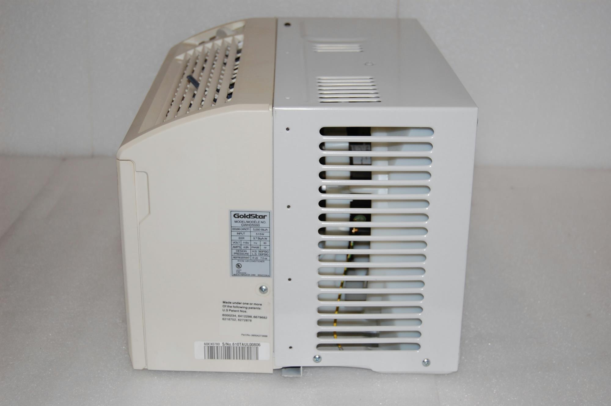LG Goldstar GWHD5000 5000 BTU Window Air Conditioner 80005519 eBay #59503E