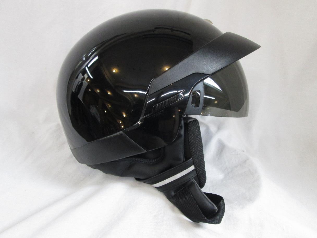 scorpion exo 100 motorcycle half helmet black xxl ebay. Black Bedroom Furniture Sets. Home Design Ideas