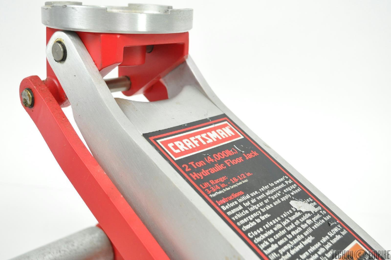 Craftsman 3 ton aluminum floor jack carpet daily for Craftsman flooring