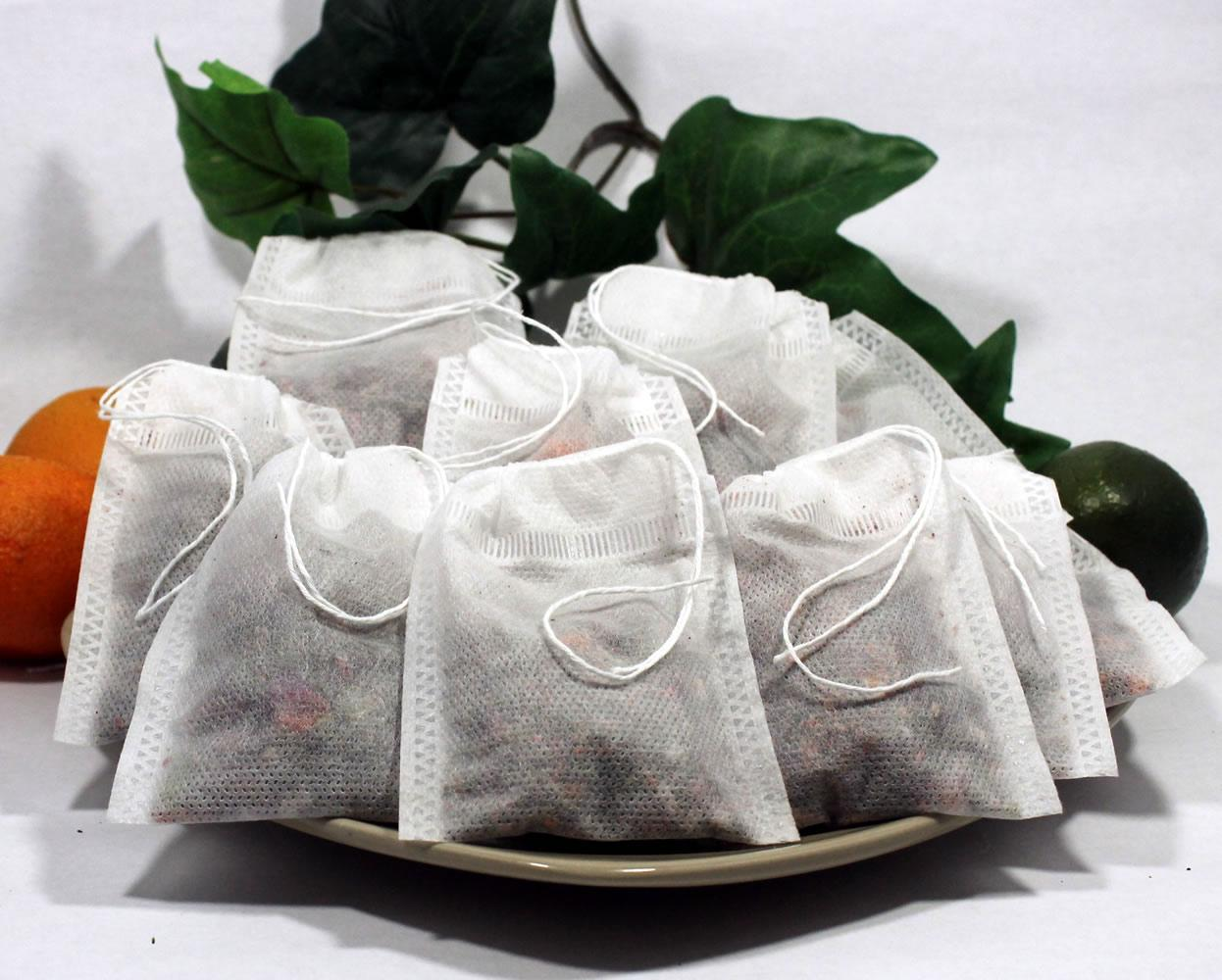 "Empty Woven Style Draw String Tea Bags 2.75"" x 3.5 ..."