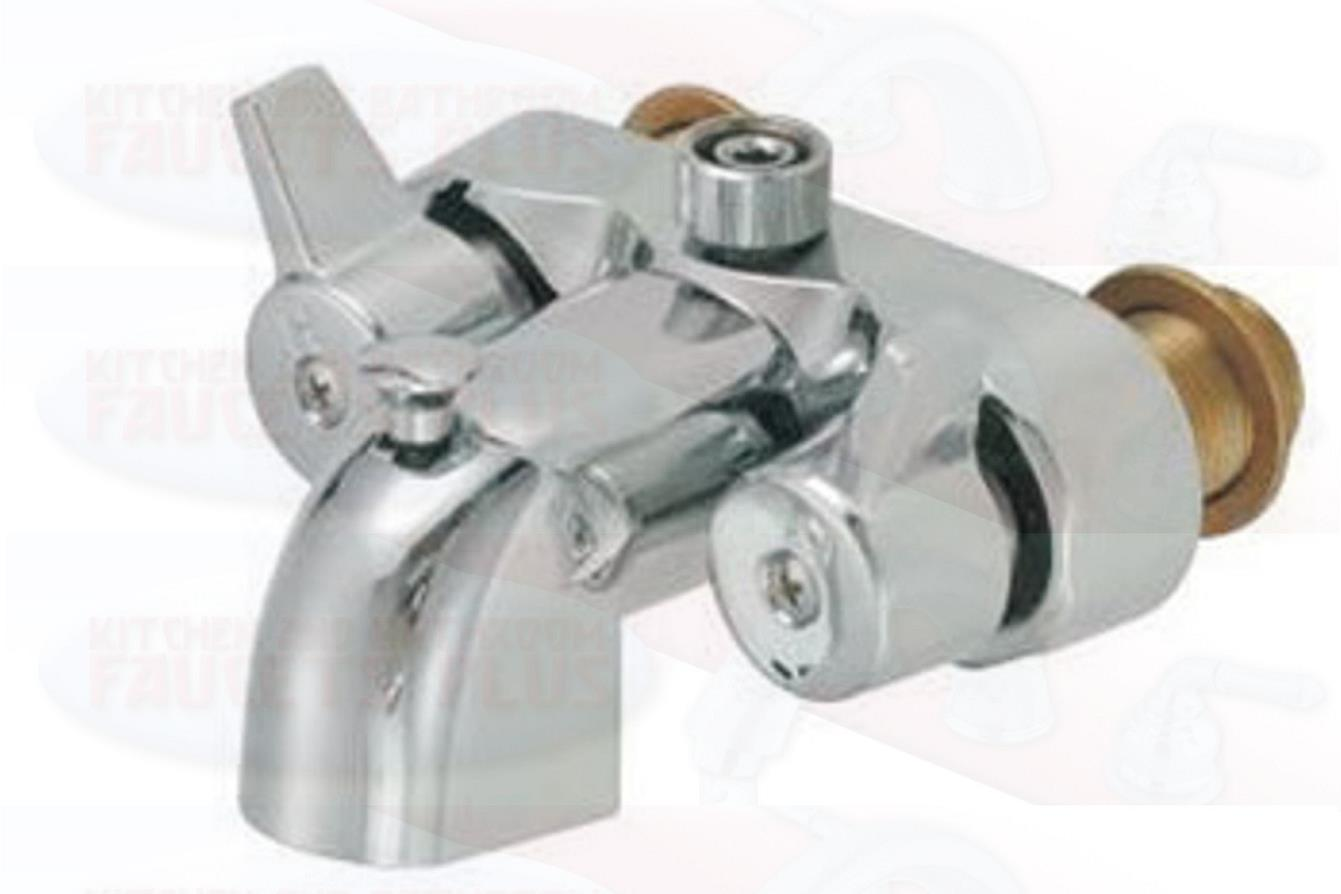 3-3-8-Heavy-Duty-Chrome-Clawfoot-Tub-Shower-Diverter-Add-A-Shower-Faucet