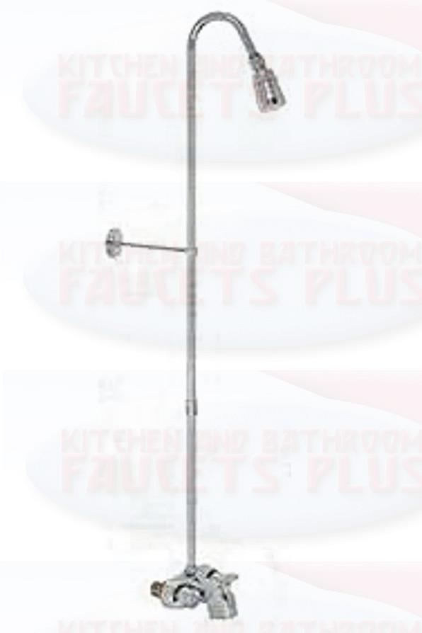 Chrome Bathroom Add-A-Shower Clawfoot Tub Diverter Faucet Kit   eBay