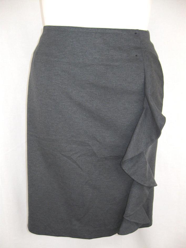 nwot bryant plus size ruffled ponte knit pencil skirt