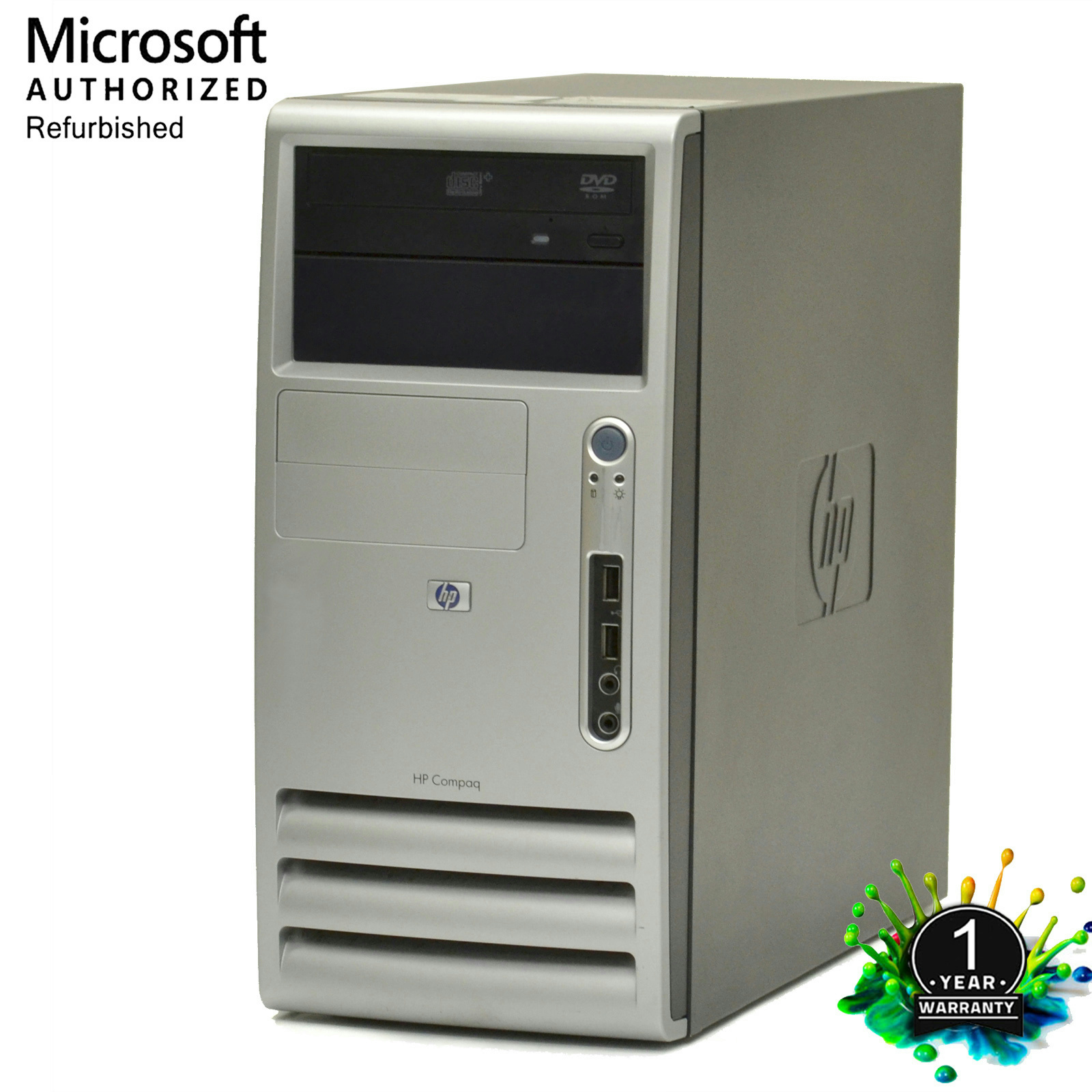 HP Compaq Windows 7 Home Premium 64 Bit Desktop Computer PC