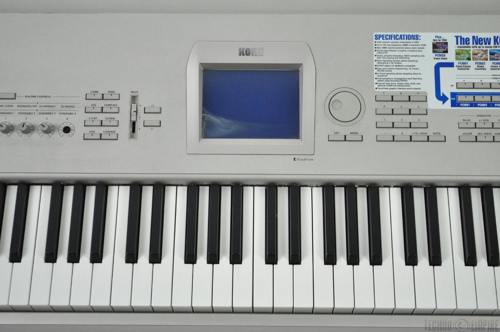 korg triton studio 88 key music workstation sampler keyboard 4588 ebay. Black Bedroom Furniture Sets. Home Design Ideas
