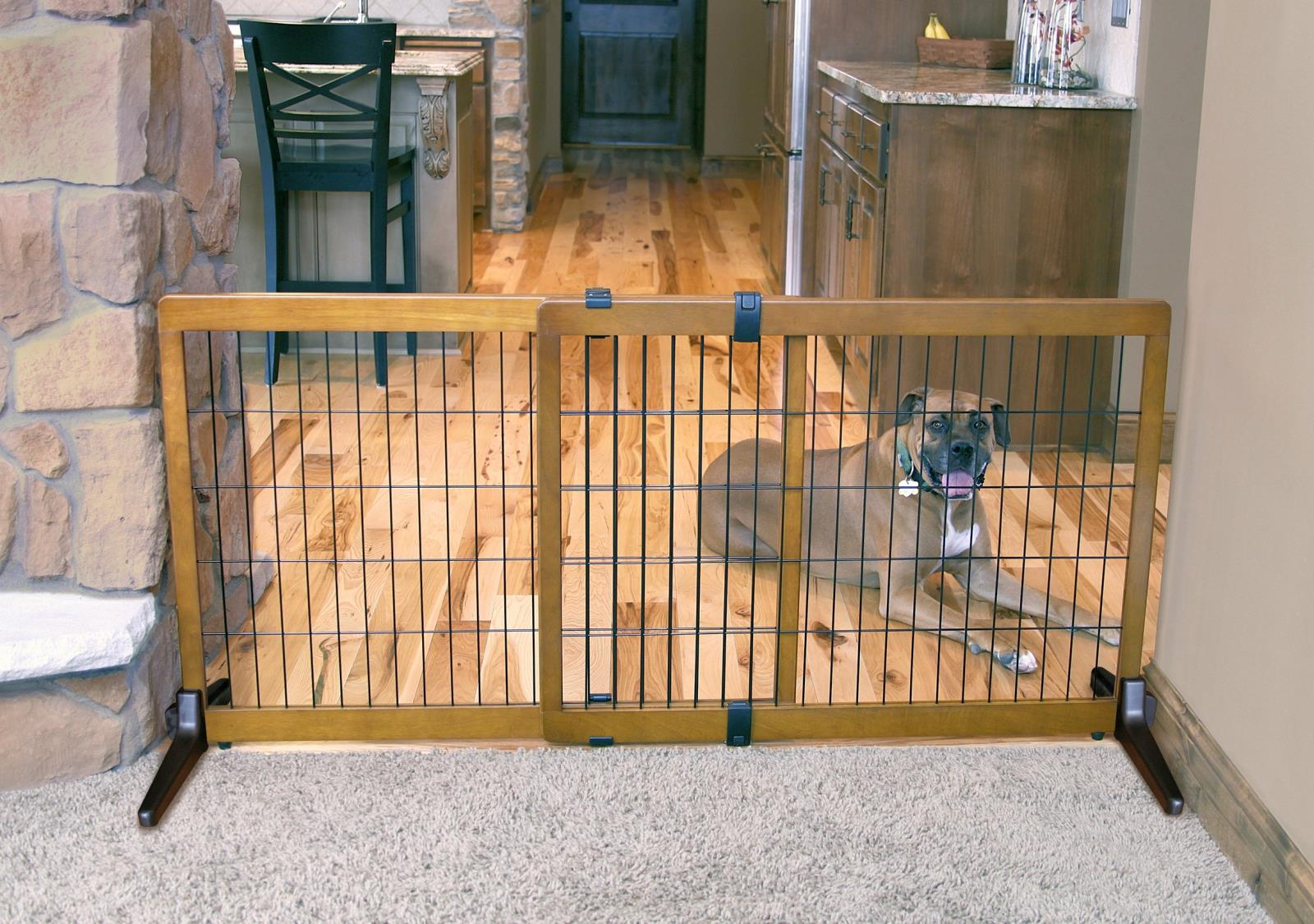 """8a9c729aead Carlson Freestanding   Pressure Mount 28"""" Tall EXTRA WIDE Pet Gate 2870"""