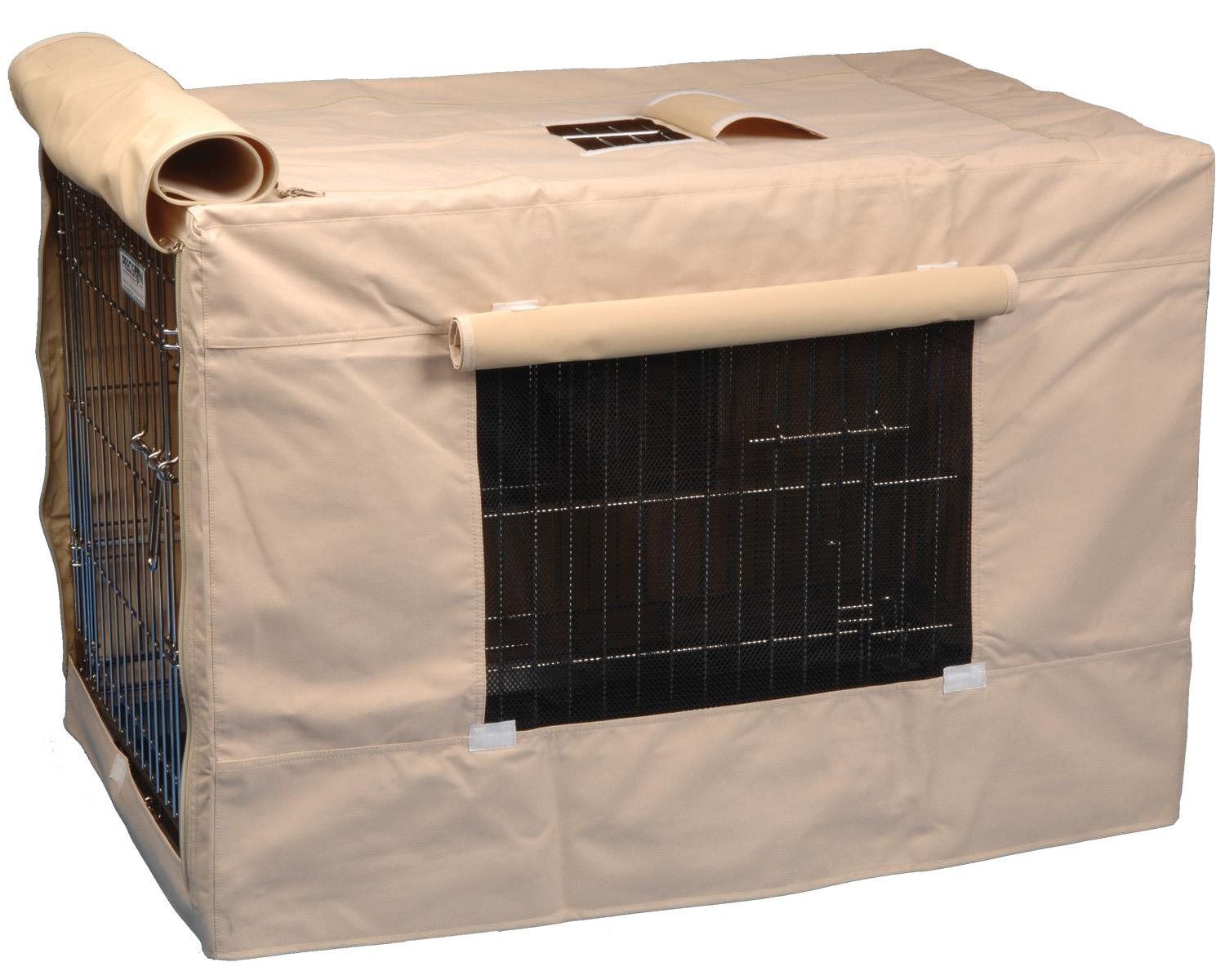 Precision Pet Dog Crate Cover Indoor Outdoor 6000 Tan