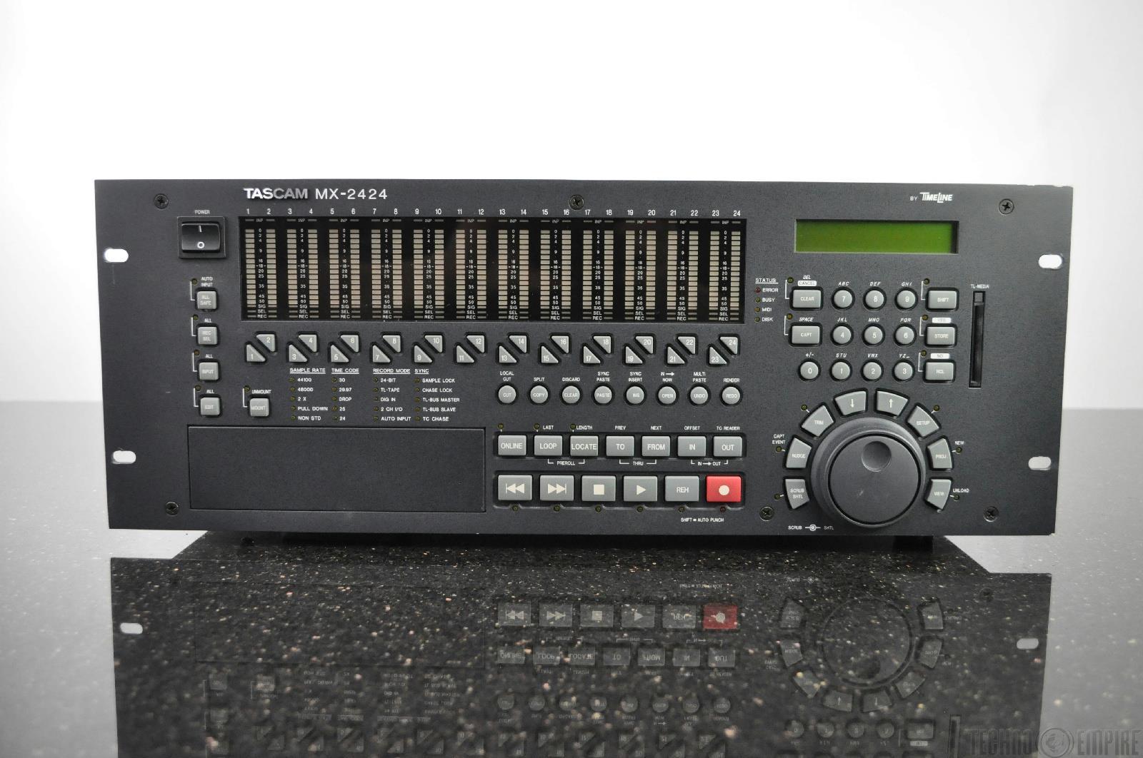 tascam mx 2424 rackmount 24 track 24 bit digital multitrack recorder 17513 ebay. Black Bedroom Furniture Sets. Home Design Ideas