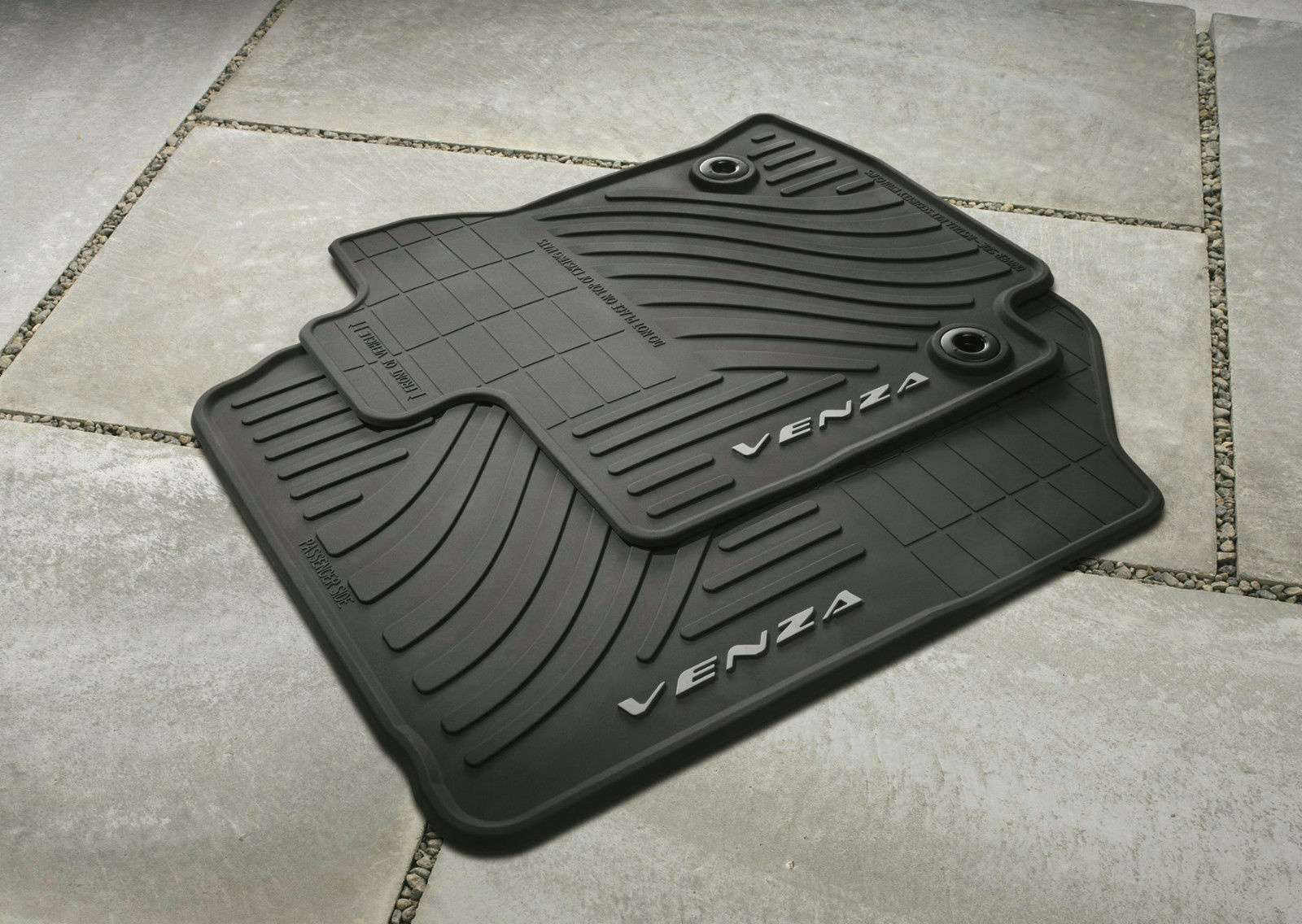 2013 14 Oem Toyota Venza Black All Weather Floor Mat Set