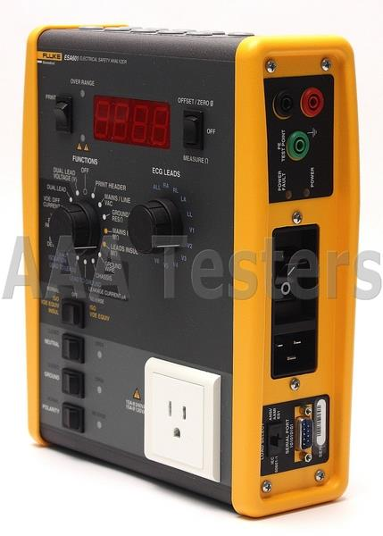 Safest Home Electrical Tester : Fluke esa electrical safety analyzer medical equipment