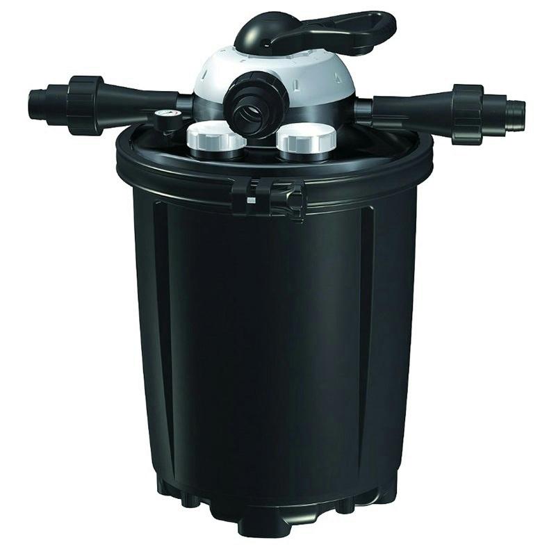 Pondmaster clearguard pressure pressurized filter 18 watt for Best pond pressure filter