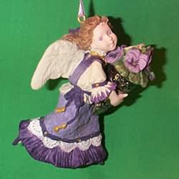 Hallmark ornament 1996 language of flowers 1 pansy angel Hallmark flowers