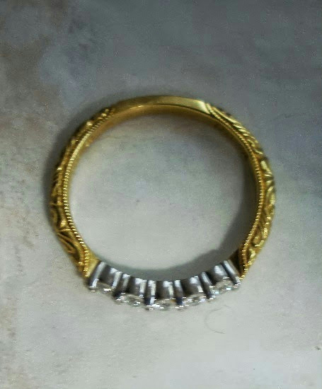 Scott Kay Platinum Five Diamond 0 18ct Wedding Band: New Scott Kay 19k Gold Diamond Platinum Eternity Band Ring