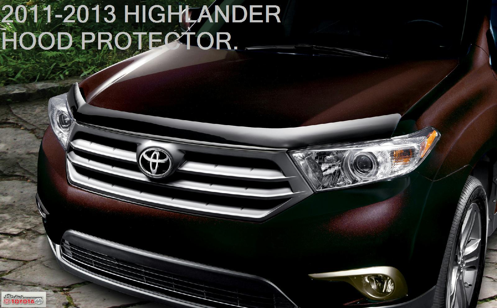 2011 Toyota Highlander For Sale >> 2011-2013 OEM TOYOTA HIGHLANDER HOOD PROTECTOR BUG SHIELD DEFLECTOR NEW