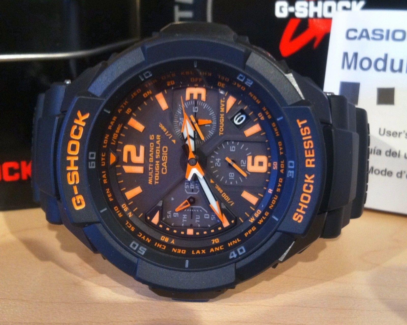 Montre Casio Bande GW 3000 B 2 bleu caoutchouc bracelet  i9OTY