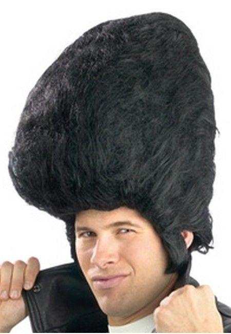 Giant Pompadour Elvis Wig Black Greaser Big Wig Ebay