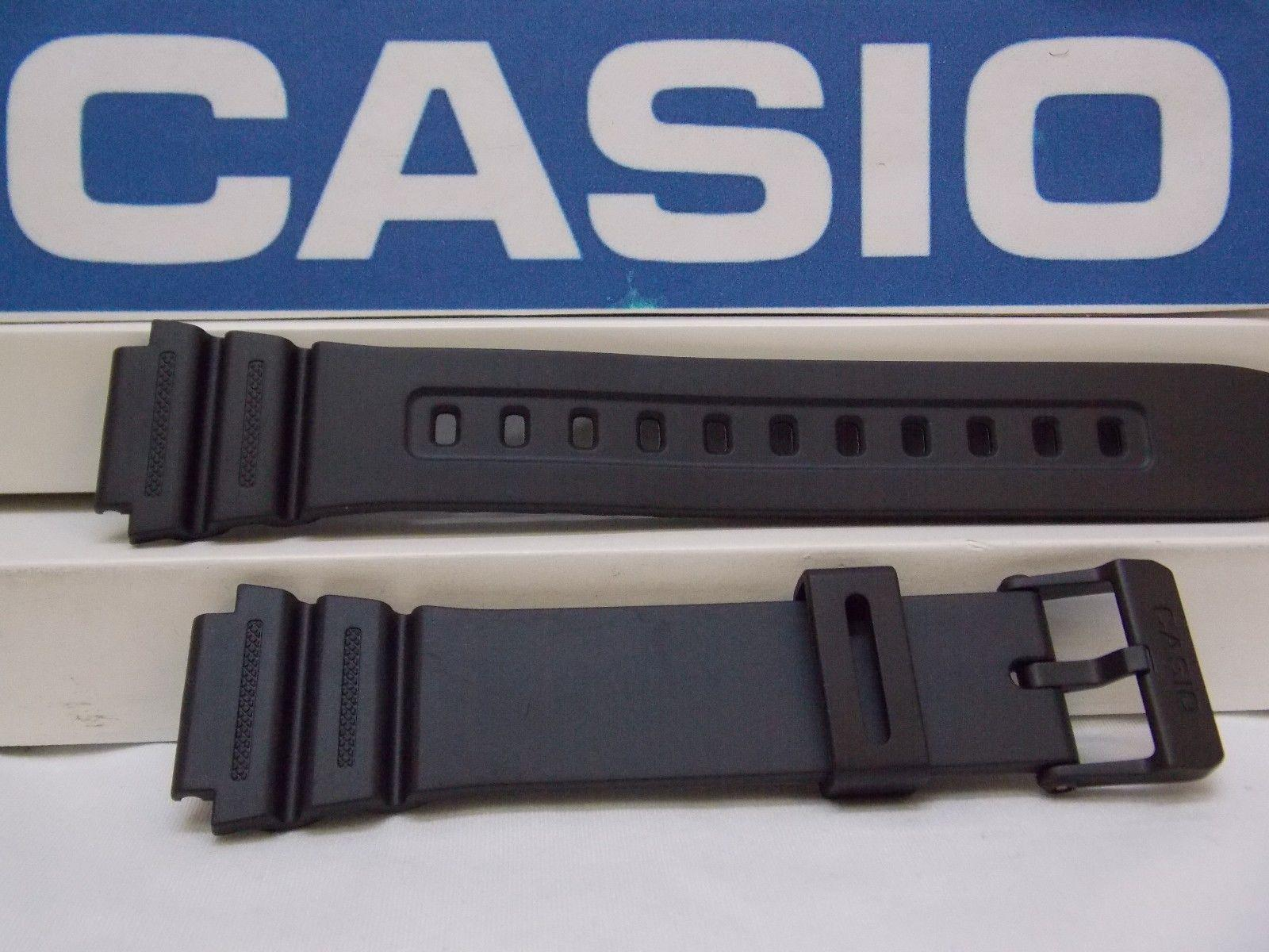 Casio watch band F 108, AE 1200, AE 1300 Noir Caoutchouc  IcZ0T