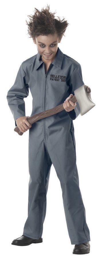 Psychopath Crazy Mental Child Costume Medium 8-10