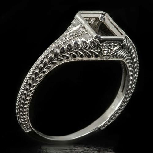 Square Filagree Wedding Ring