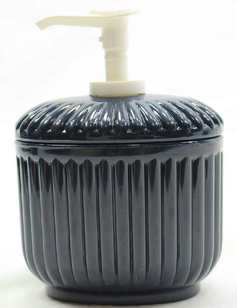 Navy Blue Plastic Counter Liquid Soap Pump Bathroom Accessory Set Of 2 EBay