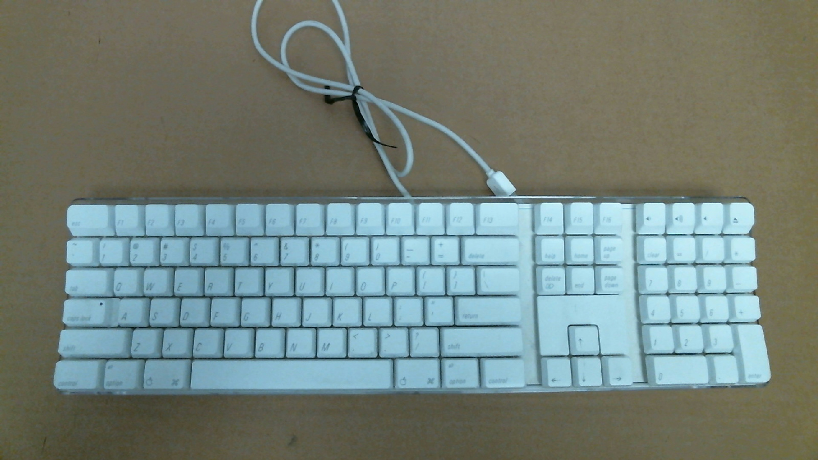 apple wired keyboard a1048 white working ebay. Black Bedroom Furniture Sets. Home Design Ideas