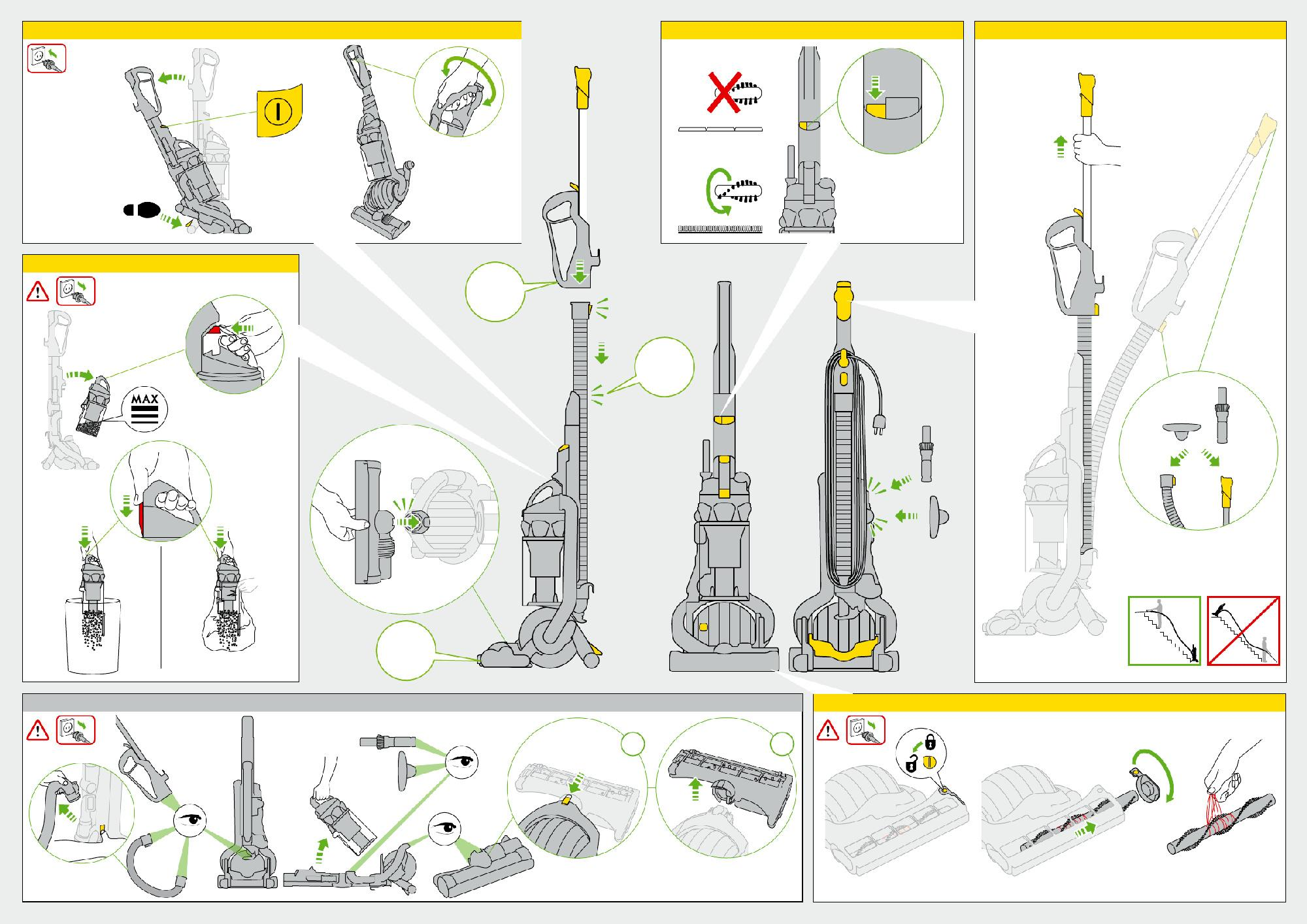 Dyson Dc25 Animal Ball Technology Upright Vacuum Cleaner Manual Guide