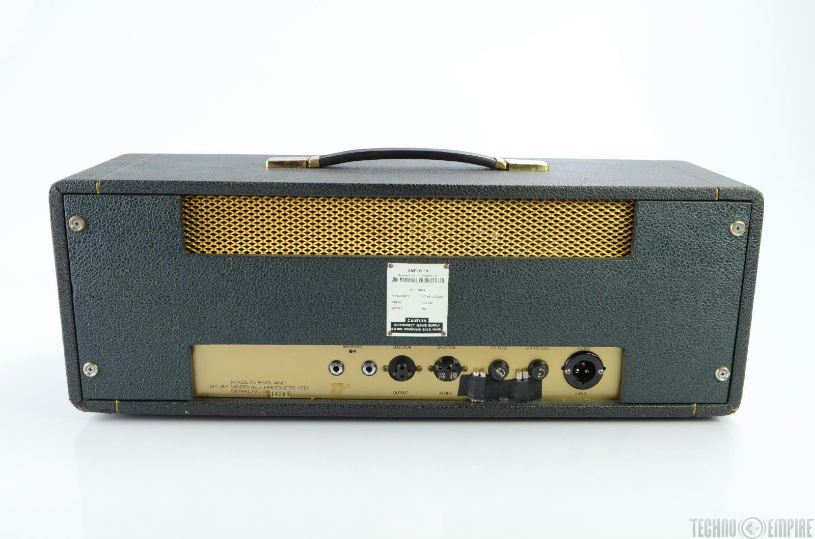 1966 marshall jtm50 black flag 50 watt guitar amplifier amp head 18833 ebay. Black Bedroom Furniture Sets. Home Design Ideas