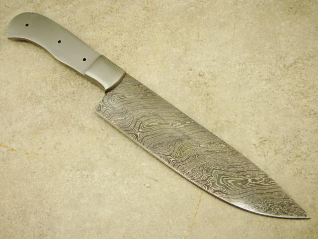custom damascus master large chef knife blank knifemaking sharp ck3 7 ebay. Black Bedroom Furniture Sets. Home Design Ideas