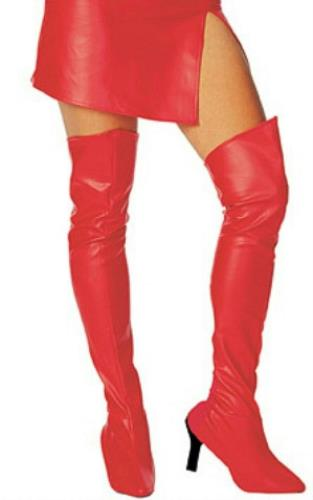 thigh high boot tops shoe covers costume accessory
