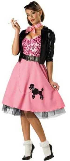 50u0027s Bad Girl Sexy Poodle Skirt Deluxe Adult Costume Size Small  sc 1 st  eBay & 50u0027s Bad Girl Sexy Poodle Skirt Deluxe Adult Costume Size Small | eBay