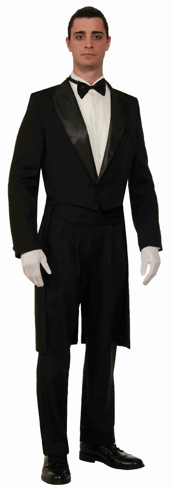 Polyester Gabardine the classic a tail coat Tuxedo with Modern Button T Polyester Gabardine the classic a tail coat Tuxedo with Modern Button T SIZE: 38RR 38LL WAIST: 32