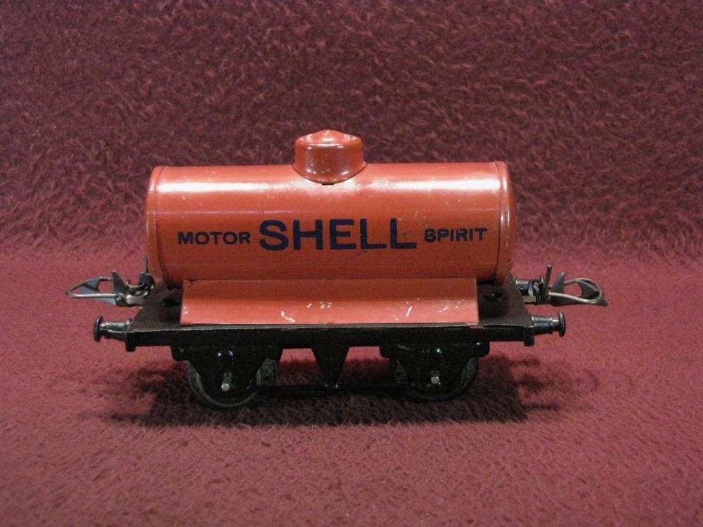 O gauge vintage mecanno hornby shell motor spirit tank car for Does ebay motors ship cars