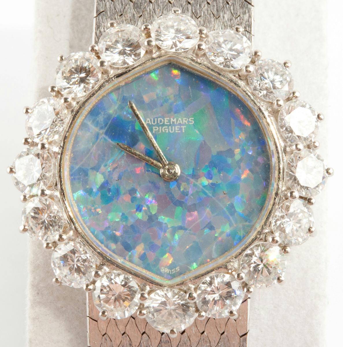 Vintage 1960 S 18k White Gold Audemars Piguet Opal