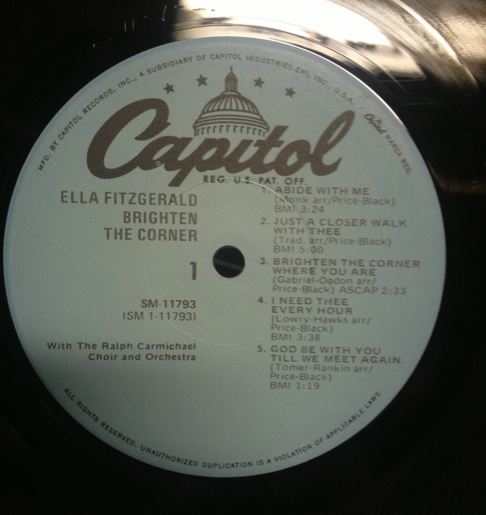 Ella Fitzgerald Brighten The Corner