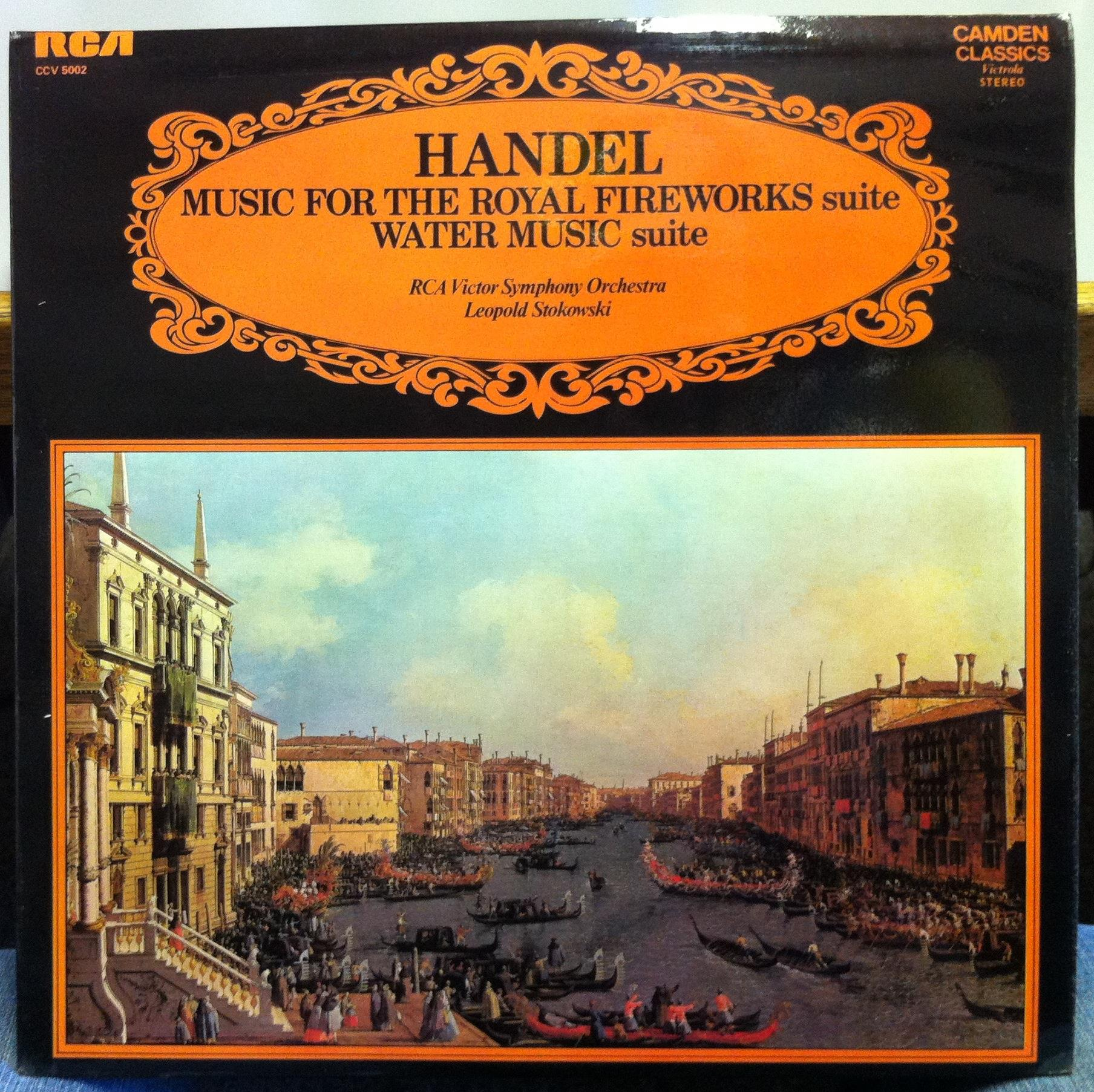 STOKOWSKI handel royal fireworks suite & water music LP Mint- CCV ...