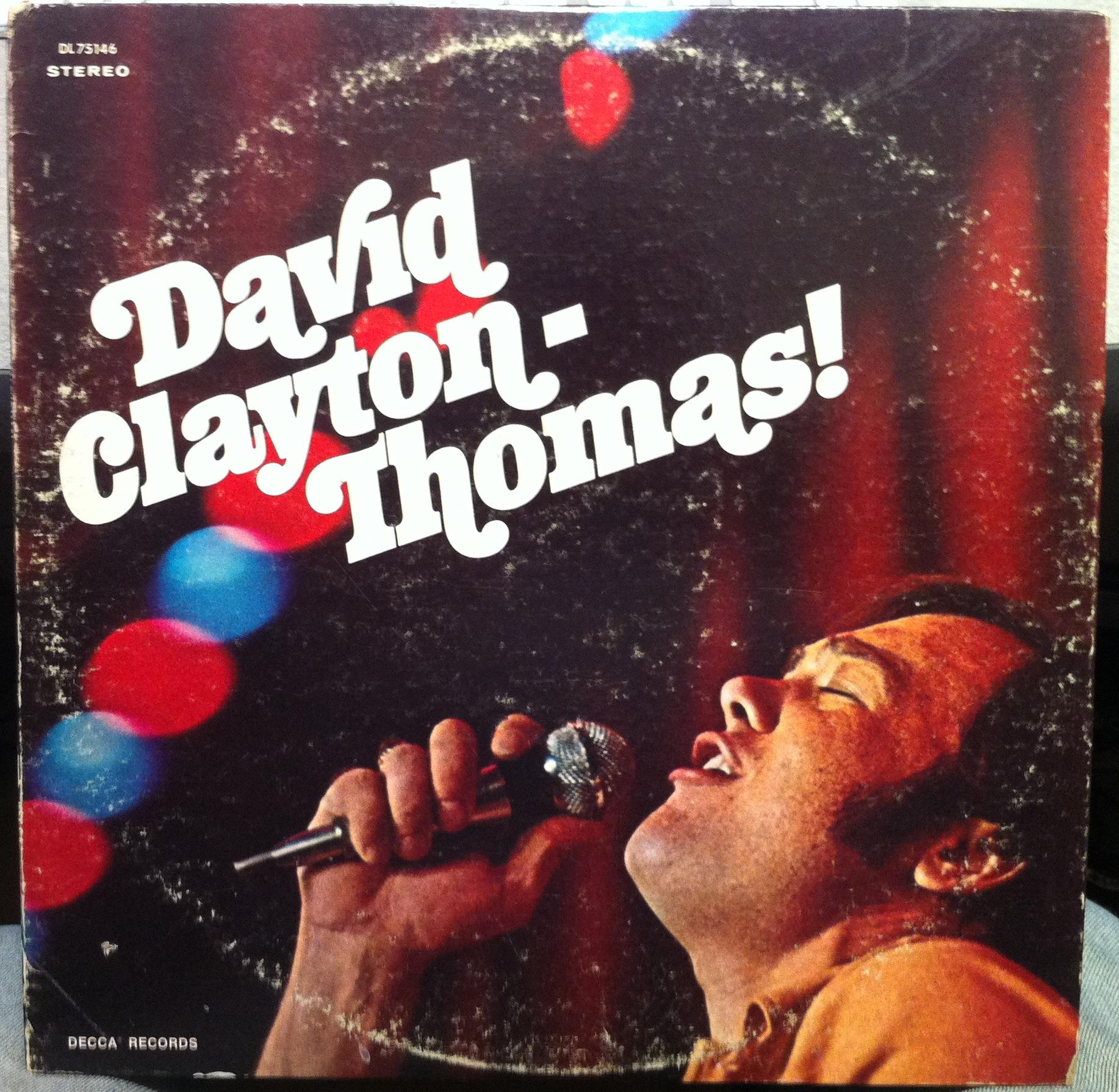 DAVID CLAYTON THOMAS - David Clayton Thomas S/t Lp Vg Dl 75146 Vinyl 1969 Record (s/t)